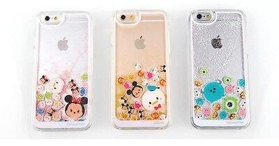Disney Tsum Tsum Liquid Flowing Transparent IPhone 6 plus Iphone 7 Hard Case