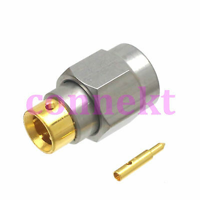 "1pce SMA male solder semi-rigid RG402 0.141"" connector Stainless steel 1050794-1"