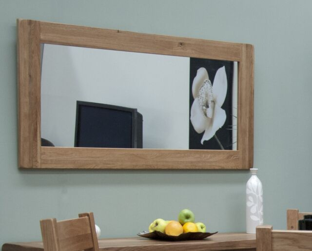 Brooklyn solid oak hallway living room furniture large wall mirror