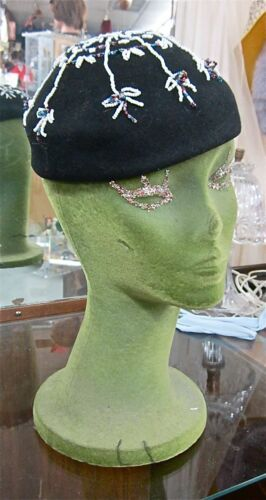 DECO DARLING vintage BEADED GATSBY FLAPPER BABE ti