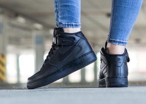 noir 1 en Sneakers Femmes 004 cuir 314195 Unisexe Force Air Nike wqF4O4Bt0