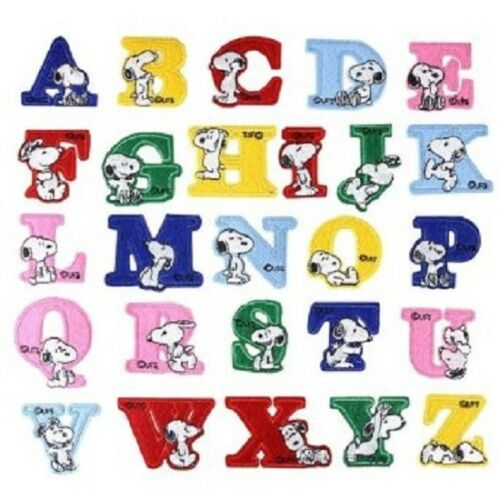 G48-UFS-SNOOPY-ALPHABET-LETTERS-1-5-8-4cm-iron-on-patches-Choose-letters
