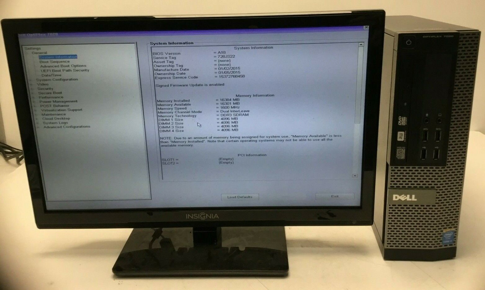 Dell OptiPlex 7020 SFF i7-4790 3.60GHz 16GB Ram 240GB HDD Win 10 Pro Tested. Buy it now for 194.99