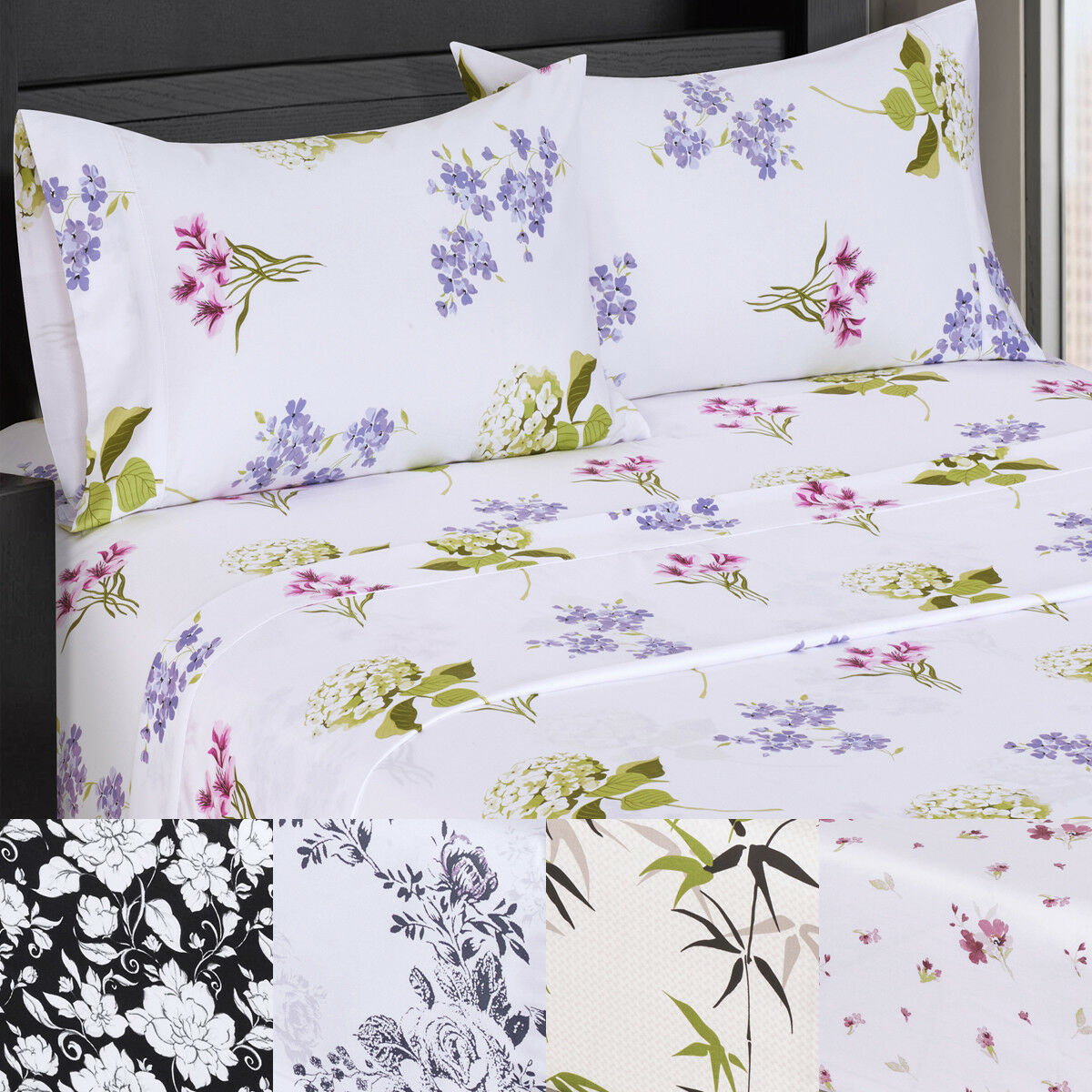 Elegant & Adorable Royal Tradition 300TC 100%Cotton Ultra soft Printed Sheet Set