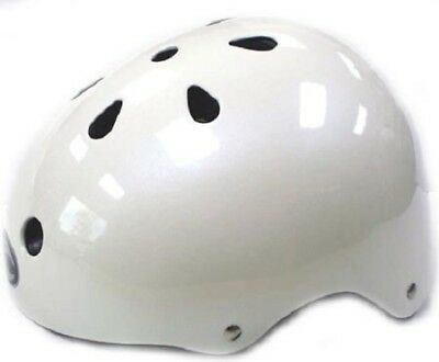 WHITE Kids Bicycle Helmet S//M//L Cycling Skateboard Scooter Protective Gear NEW