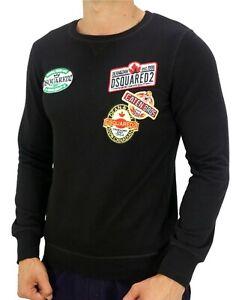 Men/'s Dsquared 2 Sweatshirt Jumper Sweater Color Black S M L XL 2XL All Sizes