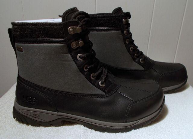 4d5ab84a198 UGG Australia Eaglin Winter BOOTS Black Grey Waterproof 1003350 Men's 10.5