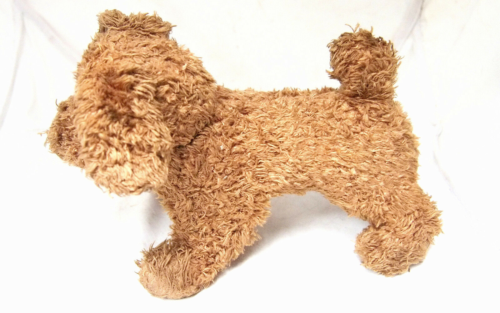 Very Very Very Rare Antique Stuffed Dog Puppy Toy 22x12x17 cm collectible aadcef
