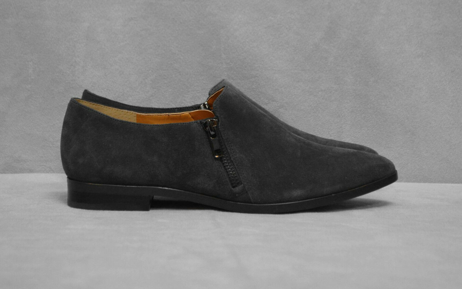 B0 NEW NEW NEW J CREW Heather Charcoal Suede Double Zip Loafer shoes C9838 Size 8.5 M 93a1bb