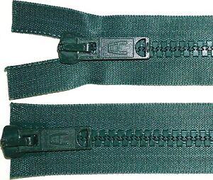 fermeture-eclair-22-5-034-57cm-Bouteille-green-0140-Chunky-Dents-Plastique-deux