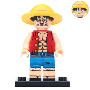 Details About Monkey D Luffy One Piece Lego Moc Minifigure Gift For Kids Angry