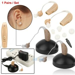2-Rechargeable-Acousticon-Behind-Ear-Hearing-Aid-Aids-Audiphone-Sound-Amplifier