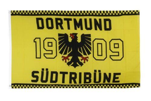 Drapeau FANFLAGGE Dortmund 1909 Aigle südtribüne Drapeau Football Hissflagge 90x150