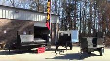 Bbq Flag Banner Holder Mobile Kitchen Smoker Grill Trailer Food Truck Business