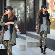 1pc Camouflage Stretch Army Green Trousers Pants Slim Leggings for Women Ladies
