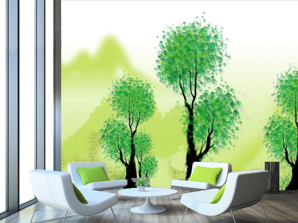 3D Grüner Baum Hügel 568 Tapete Tapeten Mauer Foto Familie Tapete Wandgemälde