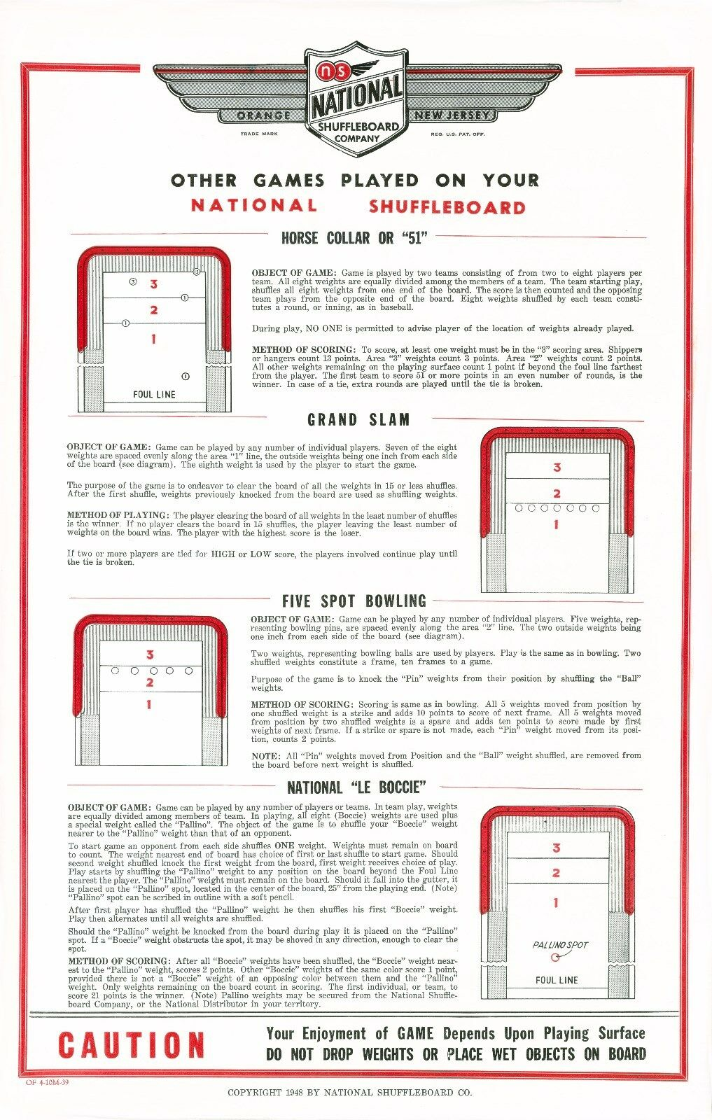 Table Shuffleboard Rules Foul Line Awesome Home