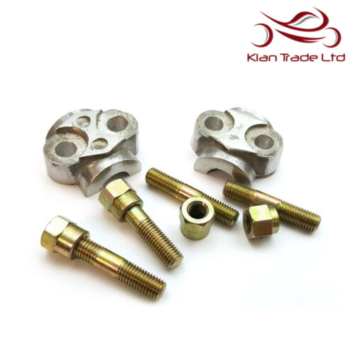 BRAND NEW ROYAL ENFIELD FORK LUG CAPS SPARES FRONT FORK END NUTS STUDS PACK OF 2