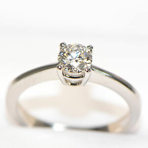 Diamantring-0-51-ct-in-750er-Weissgold-18K-Solitaer-Verlobungsring-Brillant-GIA