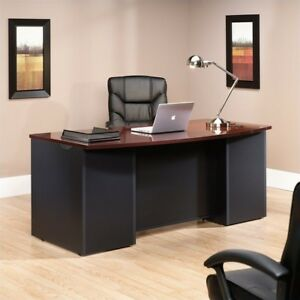 Sauder Via Executive Office Desk, Black