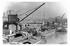 pt3699 - Barges on the Canal , Sheffield , Yorkshire - photo 6x4