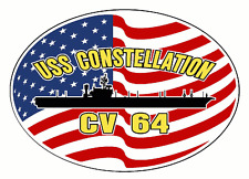 USS CONSTELLATION CVA 64 Decal US NAVY Military USN S01