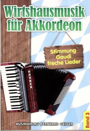 Wirtshausmusik für Akkordeon 3 Akkordeon Noten Dem Land Tirol die Treue etc.
