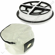 Reusable Zip Up Vacuum Dust Bag & Round Cloth Filter For Numatic Henry Hoover