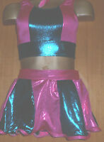 PINK/GREEN/MICRODOTS/LYCRA/ROCK AND ROLL/FREESTYLE DANCE/7/9 YEAR