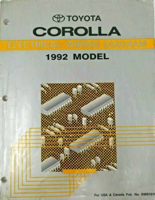 1992 Toyota Corolla Electrical Wiring Diagram Repair