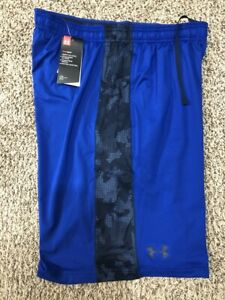 Under-Armour-UA-MEN-039-S-SZ-Medium-Loose-Athletic-Training-Shorts-Blue-1291322-400