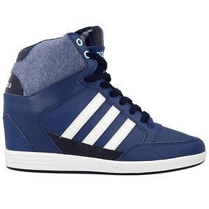 reputable site 0bb03 a6aef Das Bild wird geladen Adidas-Super-Wedge-W-Keilabsatz-Schuhe-Damen-Sneaker-