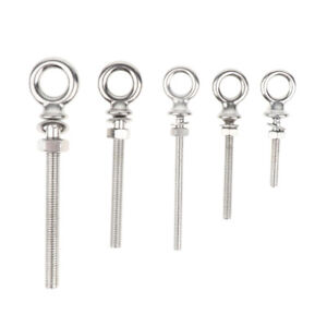Stainless Steel 304 Threaded Lifting Eye Bolt Ring Tie Down M4 x 40mm
