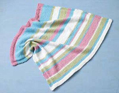 Knitting Pattern -Baby Cot/Pram Cover/Blanket P0085