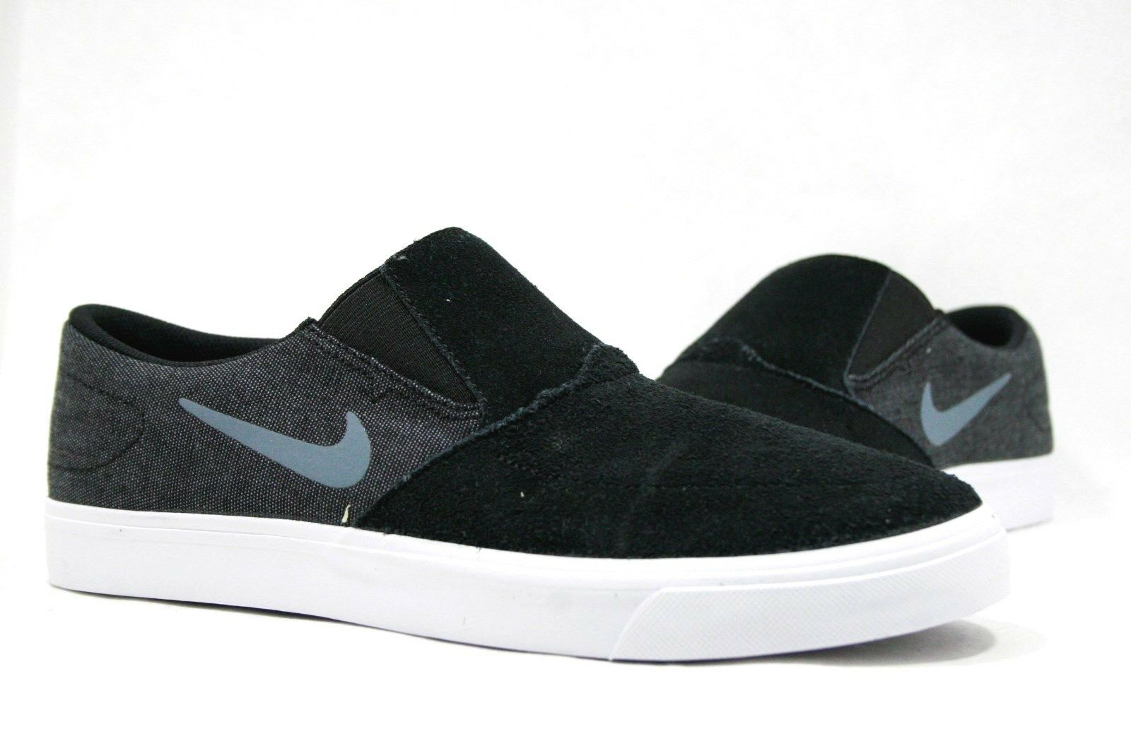 Nike Men's Shoes SB PORTMORE SLIP BLACK/BLUE 725043-041 Men's Comfortable