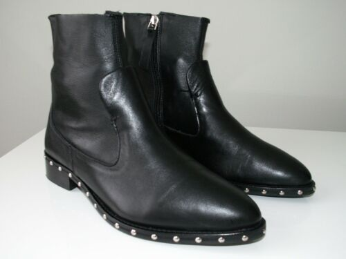 Leather Black Eu 7 Us 38 Topshop 5 Sock Uk Boots 5 'aiden' Ankle AE8w5q