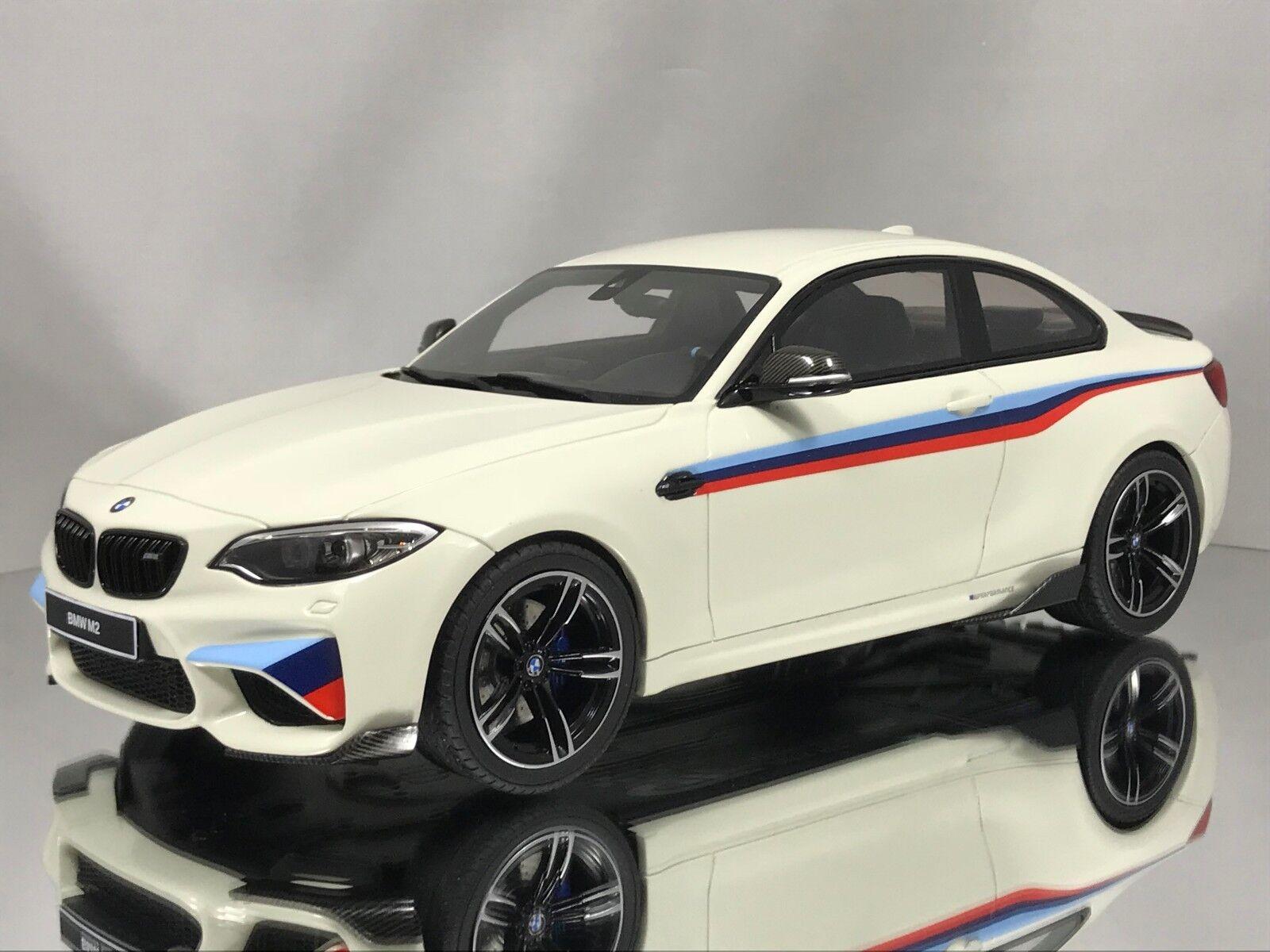 GT Spirit BMW M2 Coupe (F22) 2 Series biancao Con M SRIPES Resina Coche Modelo 1 18