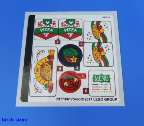 41311 Aufkleber // Pizza // Menü // Komplett Sticker LEGO® 35