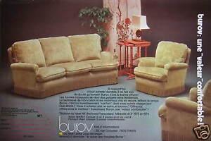 1975 advertisement burov sofa armchair comfortable value
