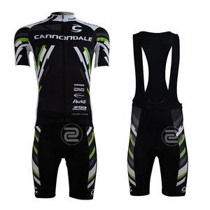 Moderno-Hombre-ciclismo-manga-corta-Juegos-Riding-Jersey-Bib-Shorts-Trajes-Negro