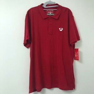 True-Religion-Men-039-s-Red-Crafted-With-Pride-Polo-Shirt-Size-Medium-amp-XXL