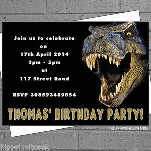 Image Is Loading Dinosaur T Rex Childrens Kids Boys Birthday Party