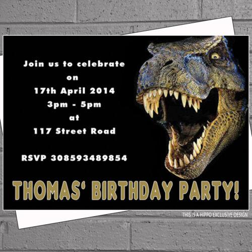 12 x Dinosaur Birthday Party Invitations Kids Invites Children Boy GirlH1006