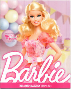 BARBIE-COLLECTOR-Catalog-Collection-Book-Ad-Magazine-Birthday-Wishes-Spring-2014