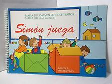 SIMON JUEGA CUADERNO PARA NINOS DE 3 Y 4 ANOS LAMINAS DIDACTICAS EN COLORES