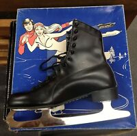Lake Placid Deluxe Mens Ice Skates Leather Insulated Uppers Size 7 Style 290