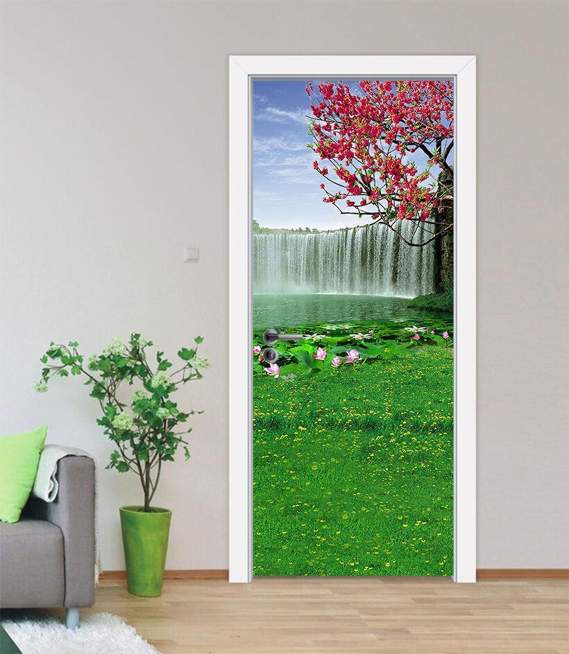 3D Der Wasserfall 8 Tür Wandmalerei Wandaufkleber Aufkleber AJ WALLPAPER DE Kyra