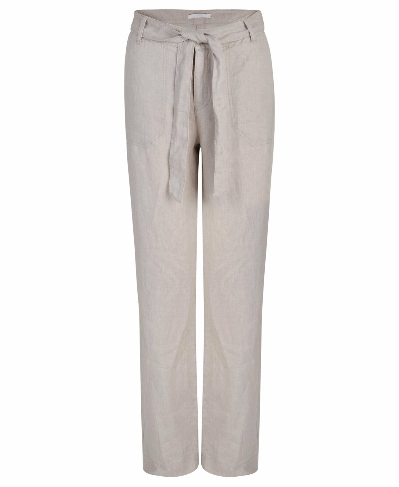 Women's White or Beige MAC Nelly Pure Linen Holiday Trousers UK Size 8 - 16