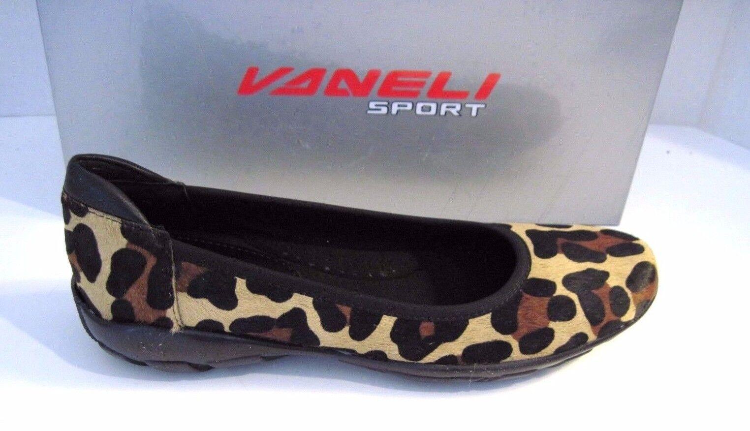 Damenschuhe VAN  ELI  ARVEL Leopard Print Animal Fur Flats Sz. 7 N, NEU