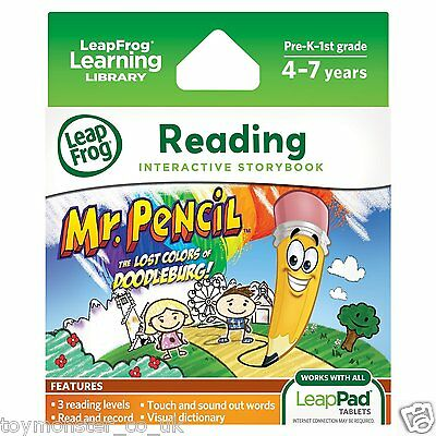 LeapFrog LeapPad Interactive Storybook Mr Pencil